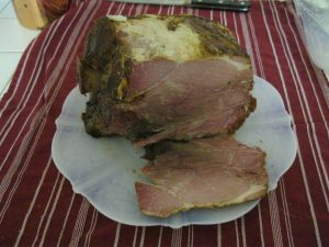 A home cured ham